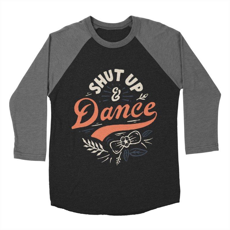Shut Up Men's Baseball Triblend Longsleeve T-Shirt by Tatak Waskitho