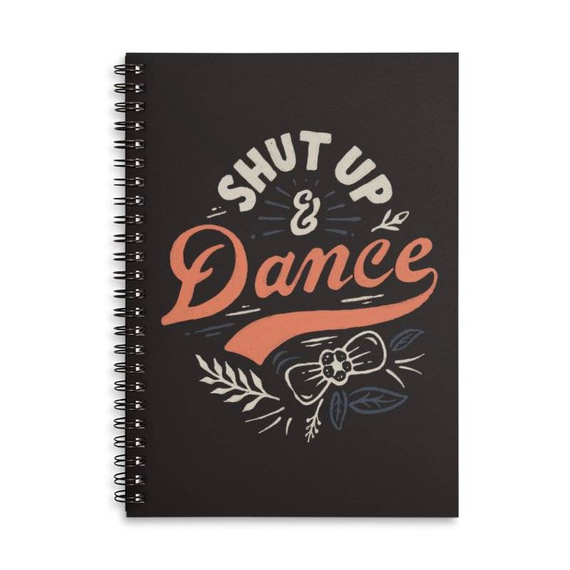 Shut Up Accessories Lined Spiral Notebook by Tatak Waskitho