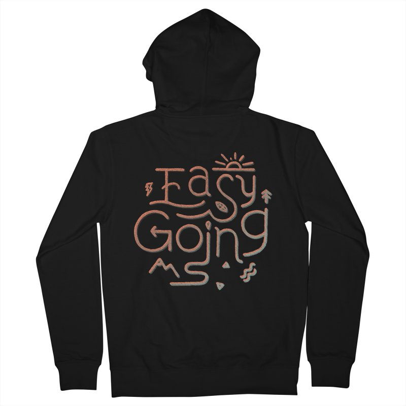 Easy Going Women's French Terry Zip-Up Hoody by skitchism's Artist Shop