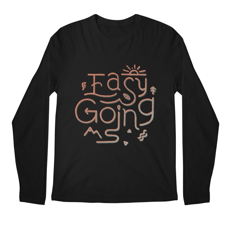 Easy Going Men's Regular Longsleeve T-Shirt by Tatak Waskitho