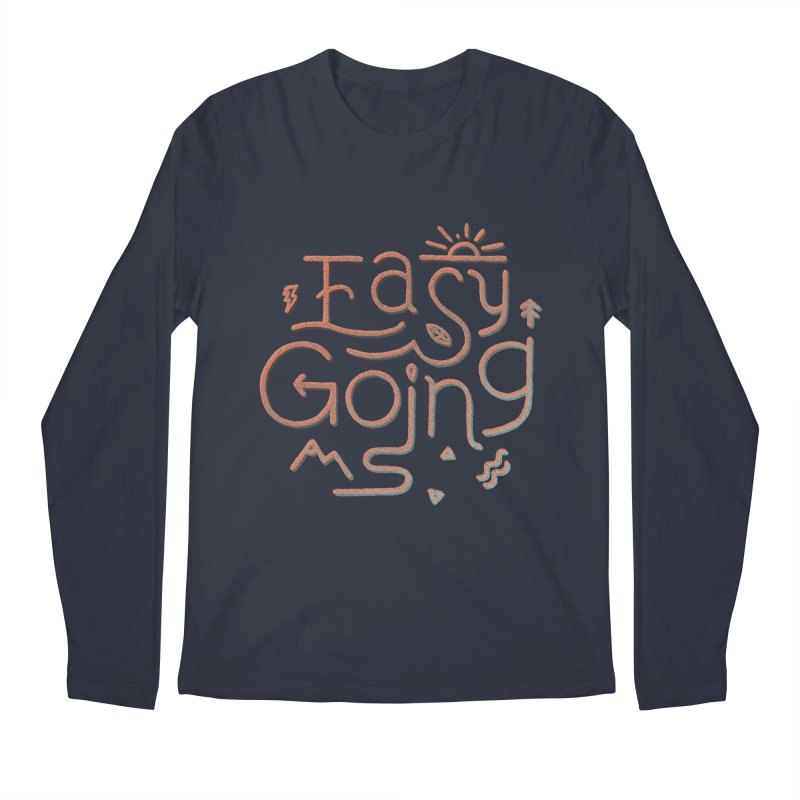 Easy Going Men's Regular Longsleeve T-Shirt by skitchism's Artist Shop