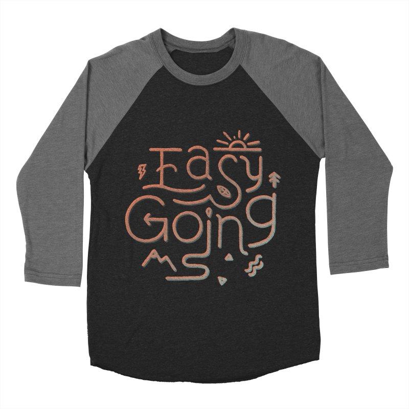 Easy Going Men's Baseball Triblend Longsleeve T-Shirt by Tatak Waskitho