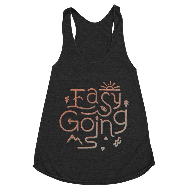 Easy Going Women's Racerback Triblend Tank by Tatak Waskitho