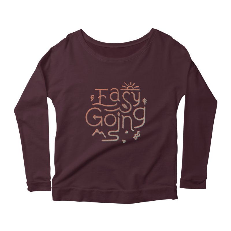 Easy Going Women's Scoop Neck Longsleeve T-Shirt by skitchism's Artist Shop