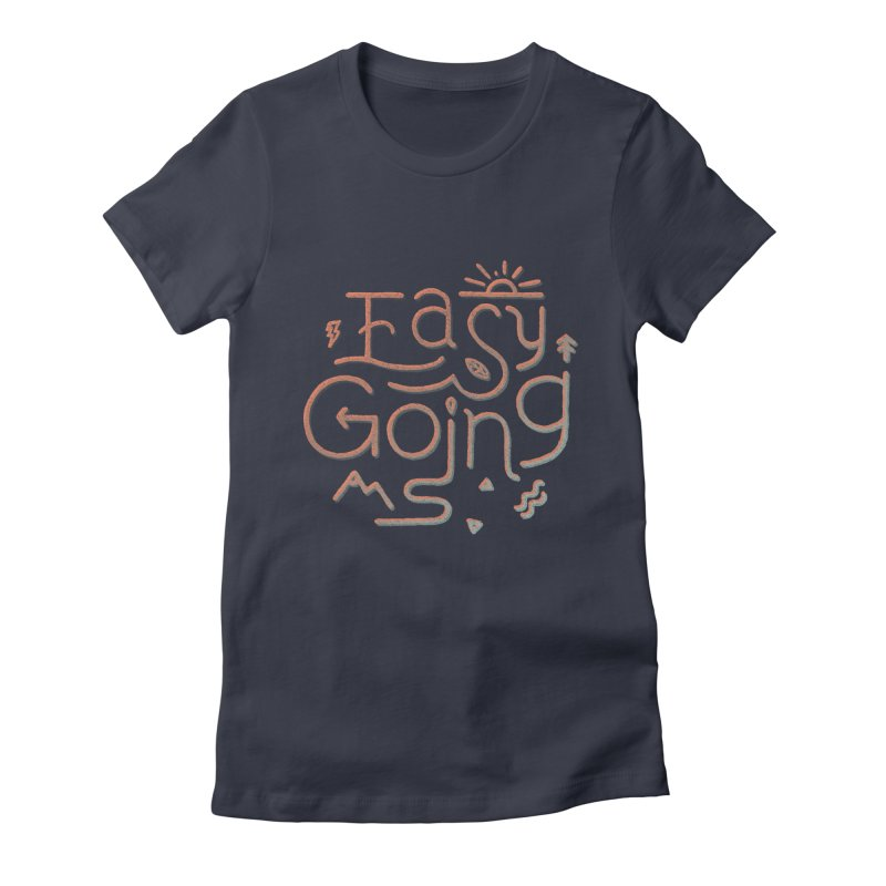 Easy Going Women's Fitted T-Shirt by Tatak Waskitho