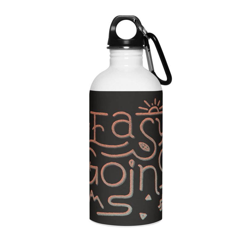 Easy Going Accessories Water Bottle by skitchism's Artist Shop