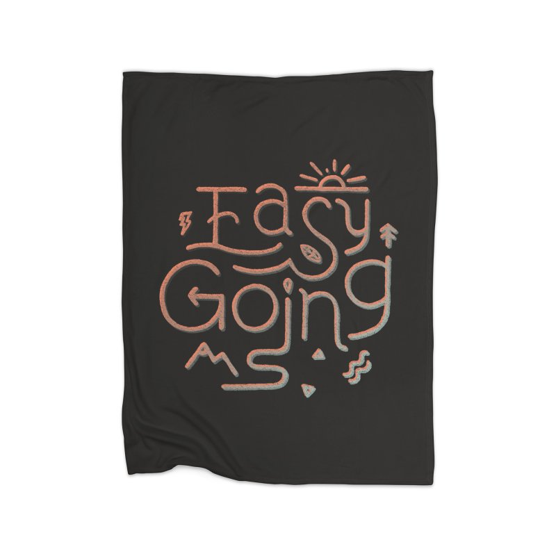 Easy Going Home Fleece Blanket Blanket by Tatak Waskitho