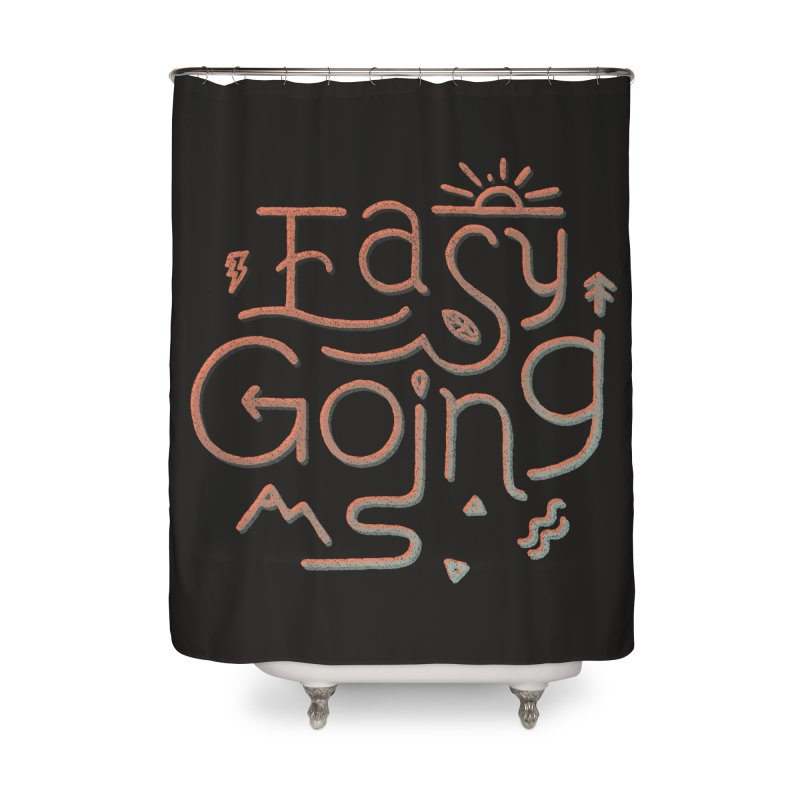 Easy Going Home Shower Curtain by skitchism's Artist Shop