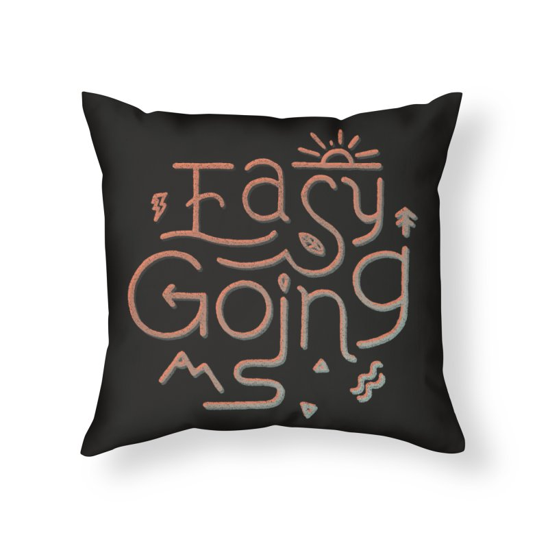 Easy Going Home Throw Pillow by skitchism's Artist Shop