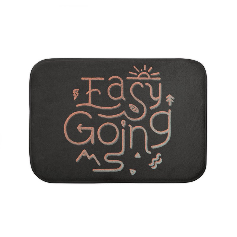 Easy Going Home Bath Mat by skitchism's Artist Shop