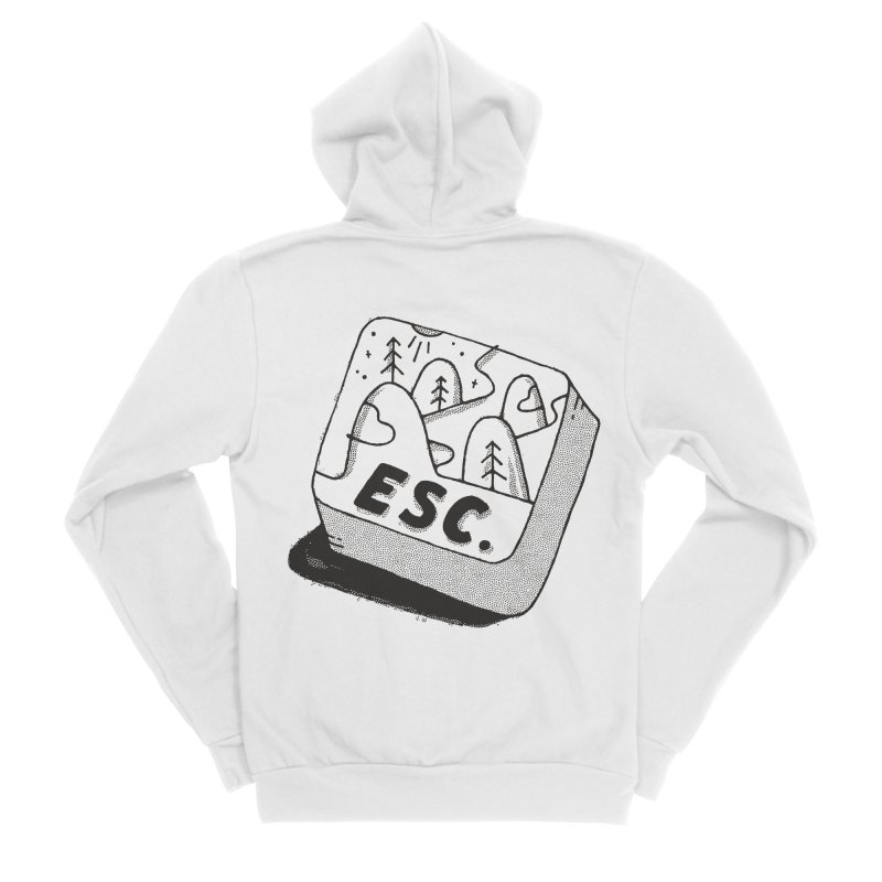 Esc Men's Sponge Fleece Zip-Up Hoody by skitchism's Artist Shop