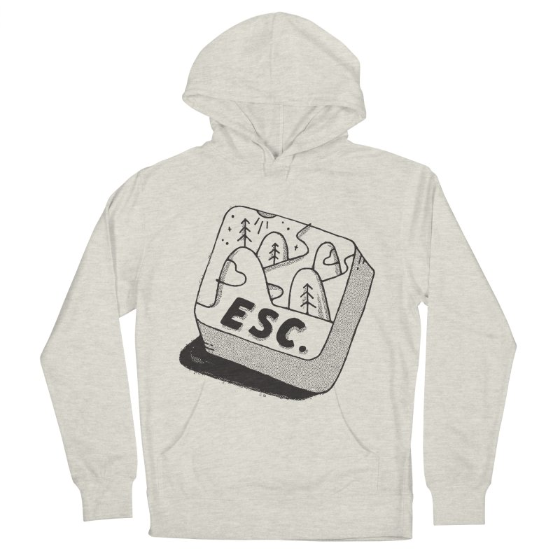 Esc Men's French Terry Pullover Hoody by skitchism's Artist Shop