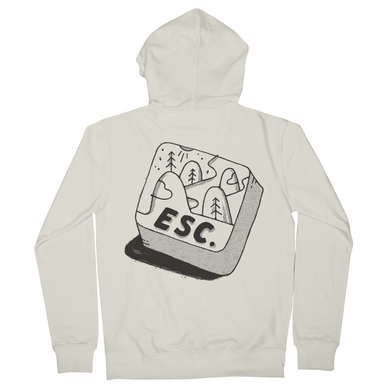 Esc Women's French Terry Zip-Up Hoody by skitchism's Artist Shop