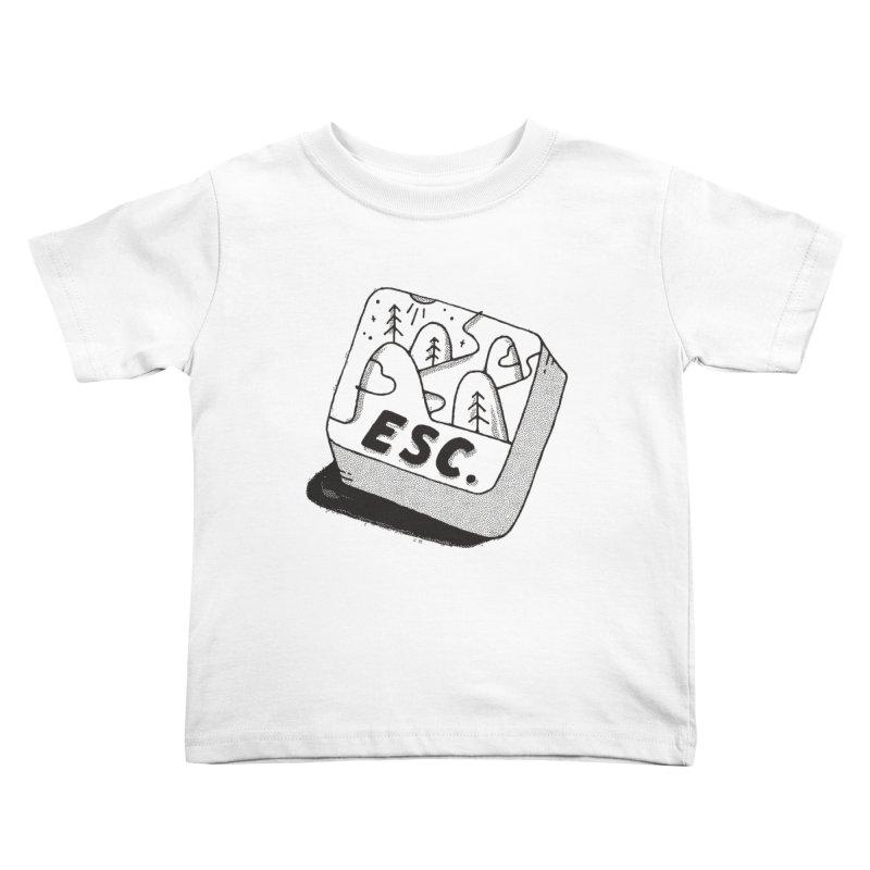 Esc Kids Toddler T-Shirt by skitchism's Artist Shop