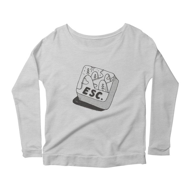 Esc Women's Scoop Neck Longsleeve T-Shirt by skitchism's Artist Shop