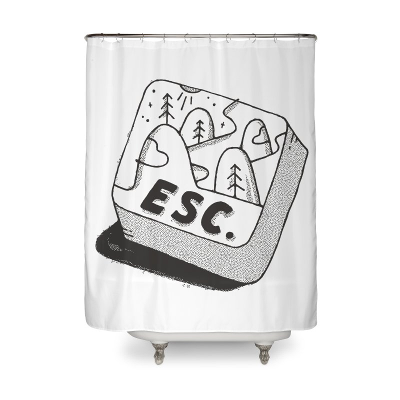 Esc Home Shower Curtain by skitchism's Artist Shop
