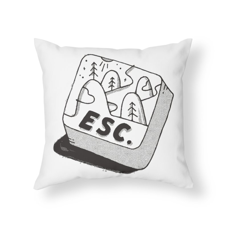 Esc Home Throw Pillow by skitchism's Artist Shop