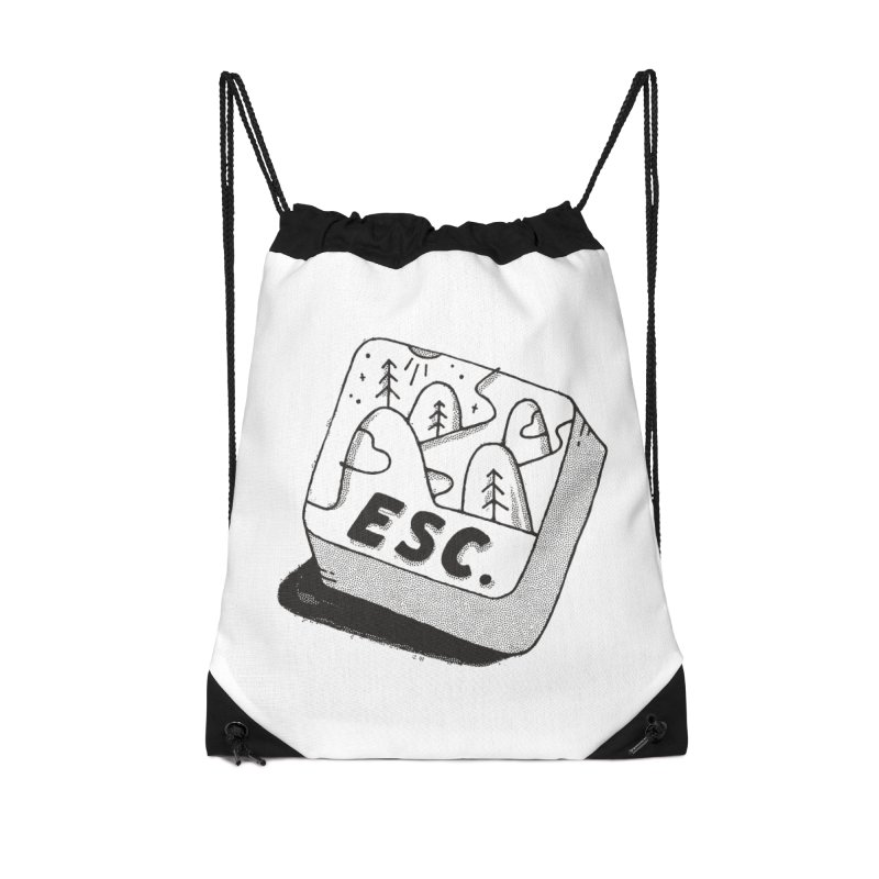 Esc Accessories Drawstring Bag Bag by Tatak Waskitho