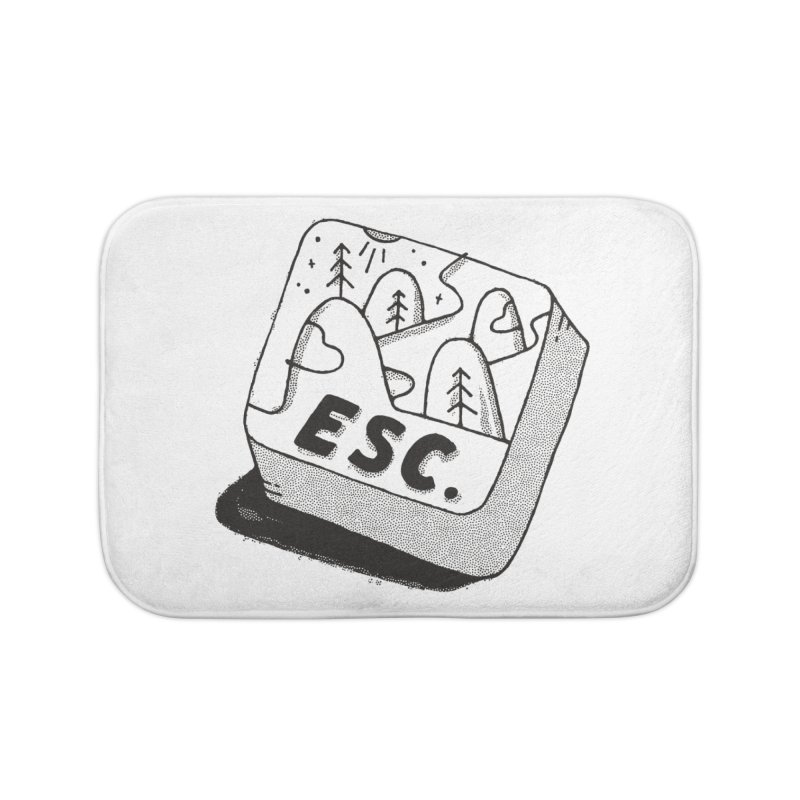 Esc Home Bath Mat by skitchism's Artist Shop