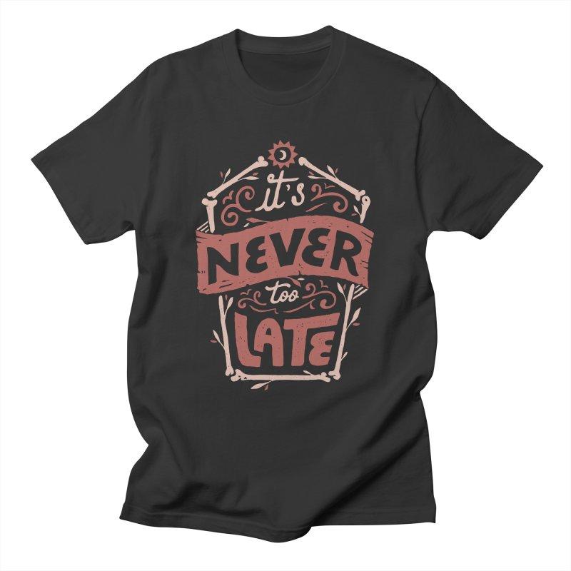 Never Late Men's T-Shirt by Tatak Waskitho