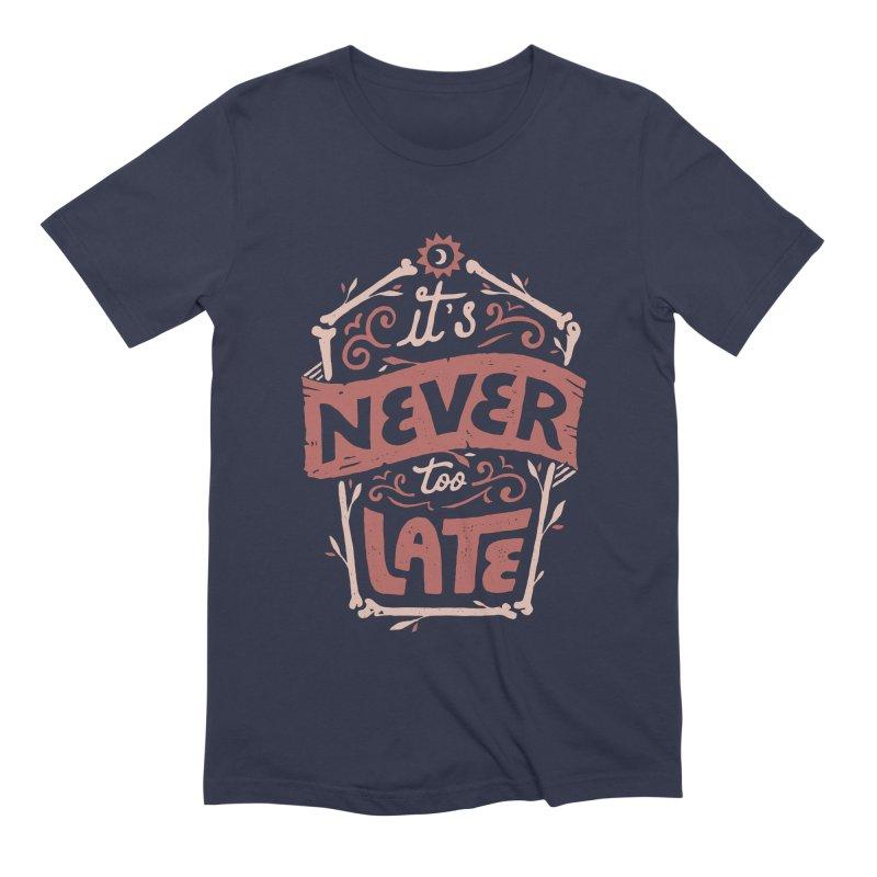 Never Late Men's Extra Soft T-Shirt by Tatak Waskitho