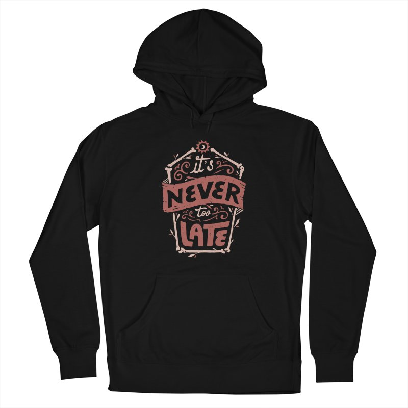 Never Late Women's Pullover Hoody by Tatak Waskitho