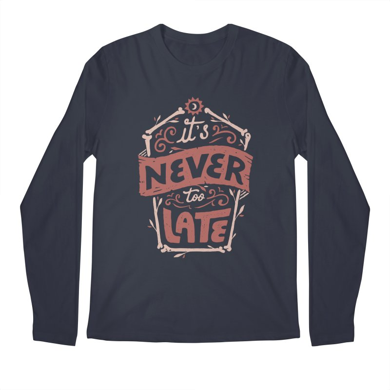 Never Late Men's Regular Longsleeve T-Shirt by Tatak Waskitho