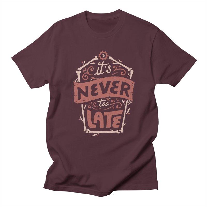 Never Late Men's Regular T-Shirt by Tatak Waskitho