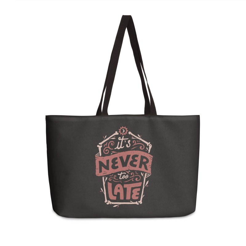 Never Late Accessories Weekender Bag Bag by Tatak Waskitho