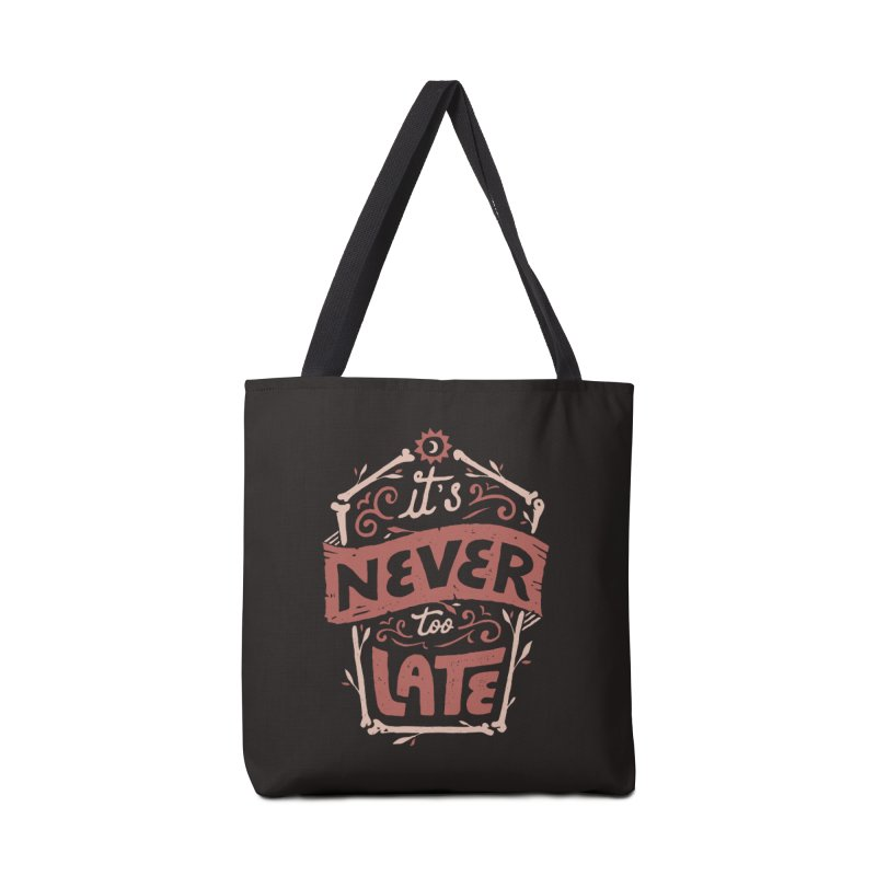 Never Late Accessories Bag by skitchism's Artist Shop