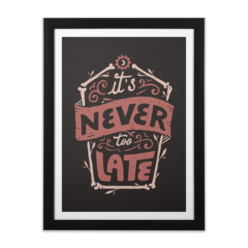 Never Late Home Framed Fine Art Print by skitchism's Artist Shop
