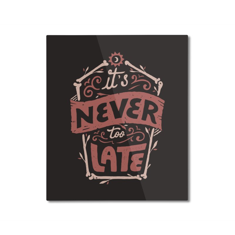 Never Late Home Mounted Aluminum Print by skitchism's Artist Shop