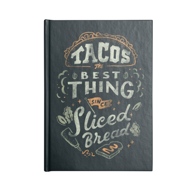 Best Tacos Accessories Lined Journal Notebook by Tatak Waskitho