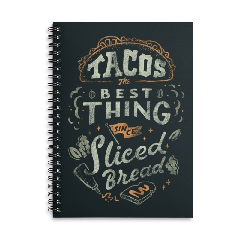 Best Tacos Accessories Lined Spiral Notebook by Tatak Waskitho