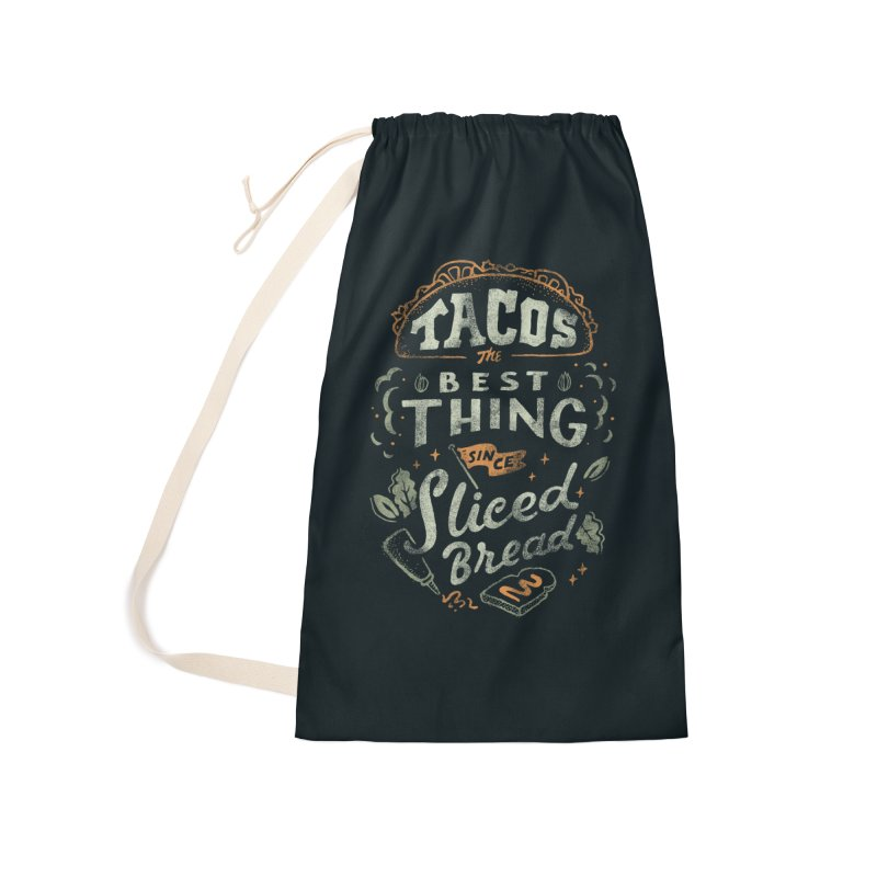 Best Tacos Accessories Laundry Bag Bag by Tatak Waskitho