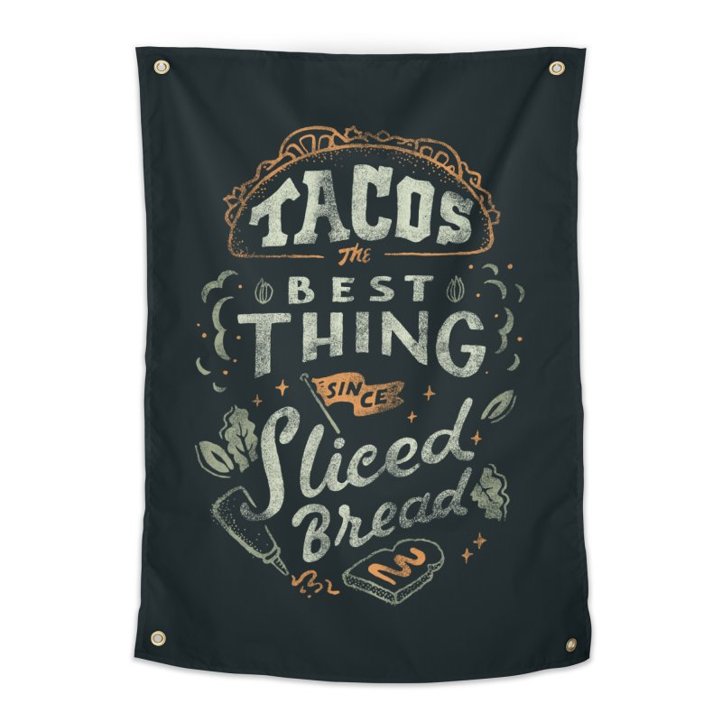 Best Tacos Home Tapestry by Tatak Waskitho