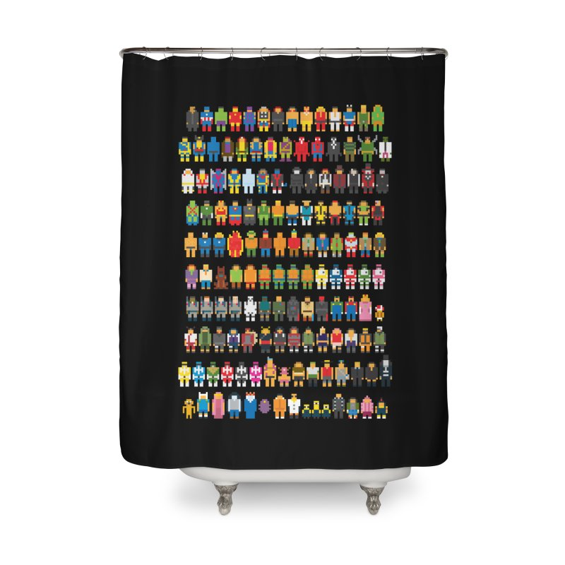 Mini Pixels Home Shower Curtain by sknny