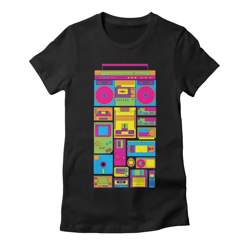 Nostalgic Gadgets Women's Fitted T-Shirt by sknny