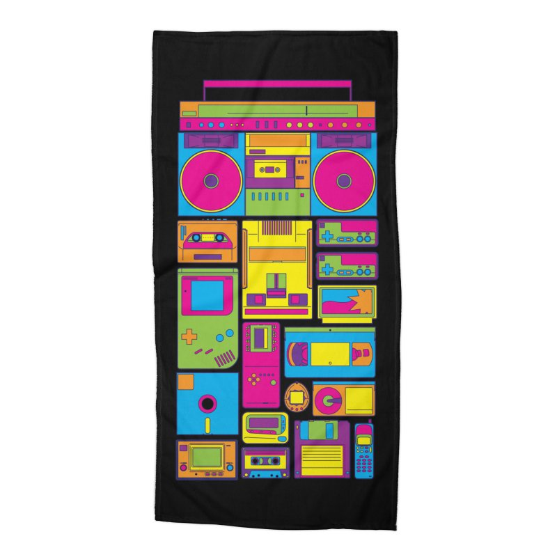 Nostalgic Gadgets Accessories Beach Towel by sknny