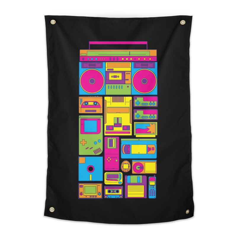 Nostalgic Gadgets Home Tapestry by sknny
