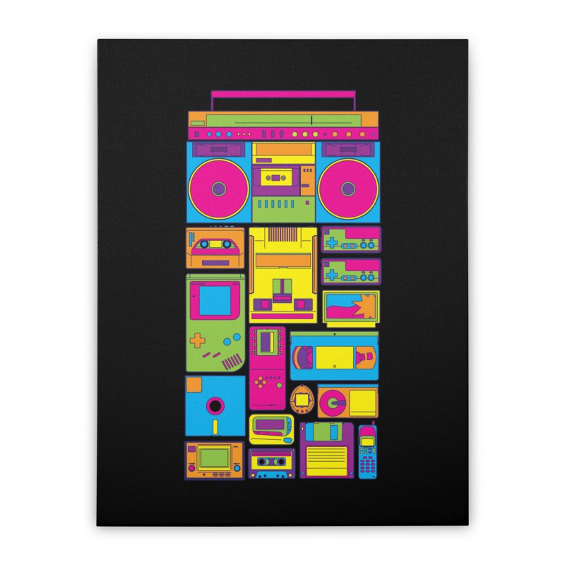 Nostalgic Gadgets Home Stretched Canvas by sknny