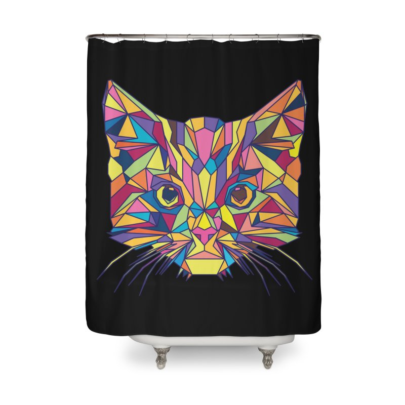 Fragile Kitten Home Shower Curtain by sknny