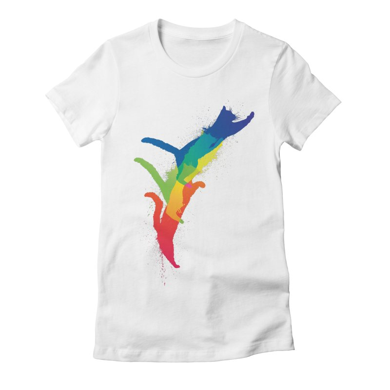 Jump Women's Fitted T-Shirt by sknny