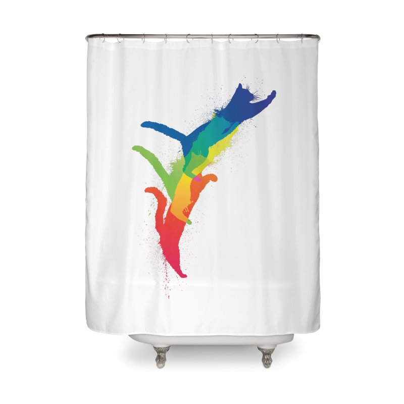 Jump Home Shower Curtain by sknny