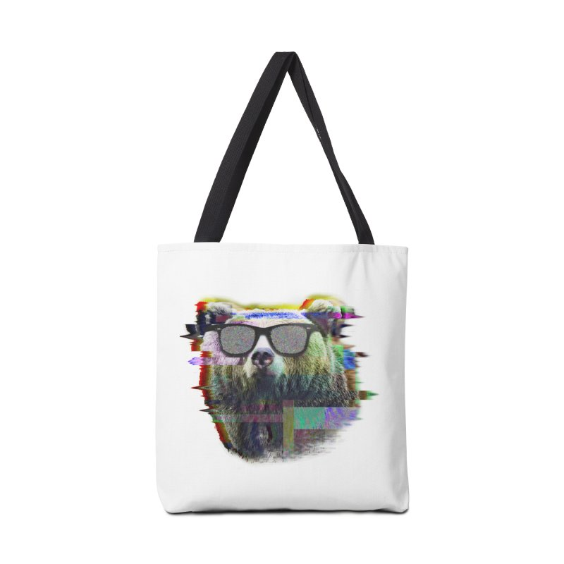 Bear Summer Glitch Accessories Bag by sknny