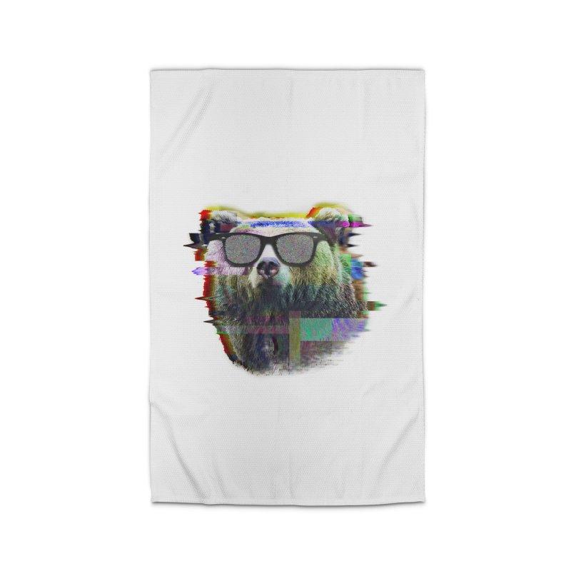 Bear Summer Glitch Home Rug by sknny