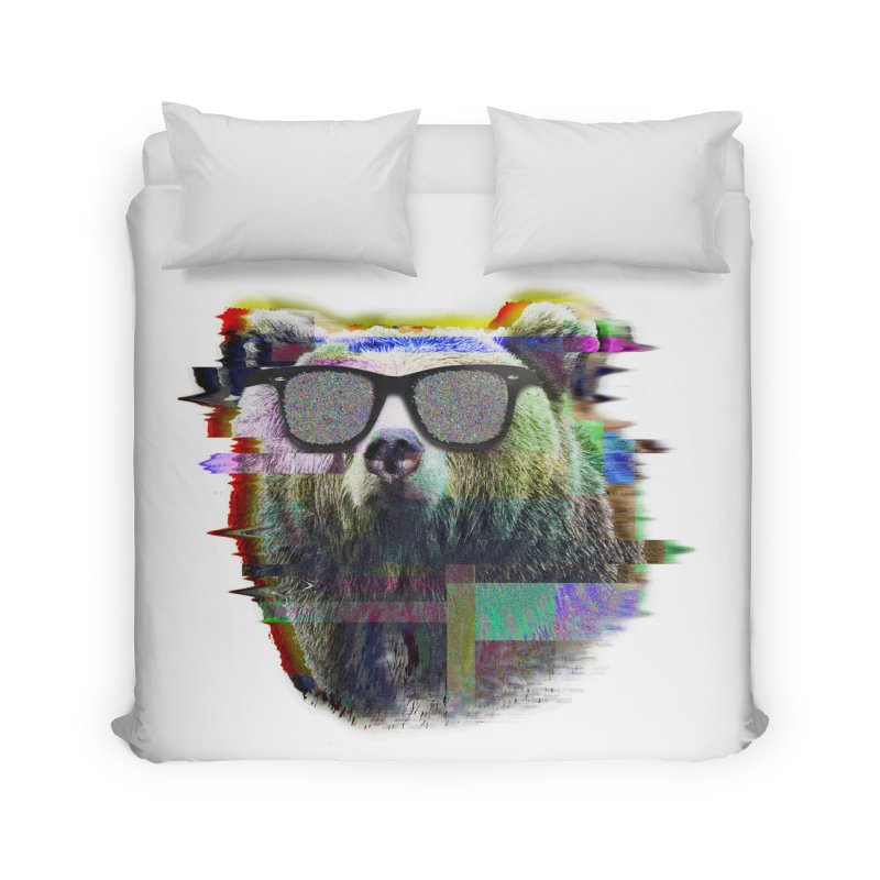 Bear Summer Glitch Home Duvet by sknny