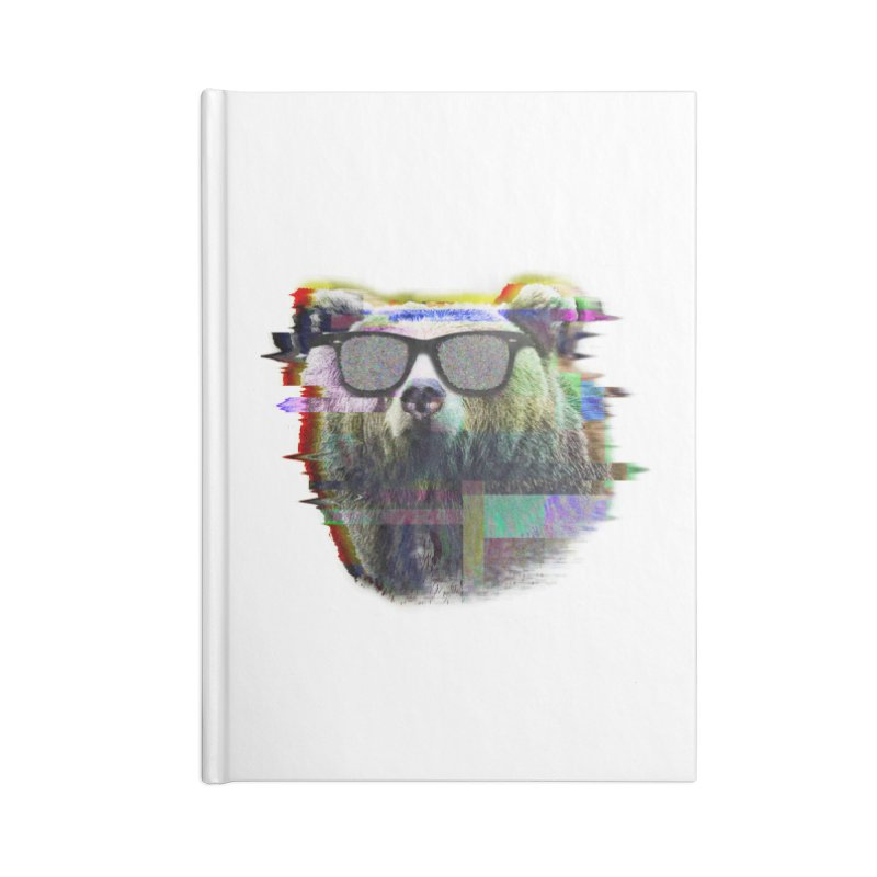 Bear Summer Glitch Accessories Notebook by sknny