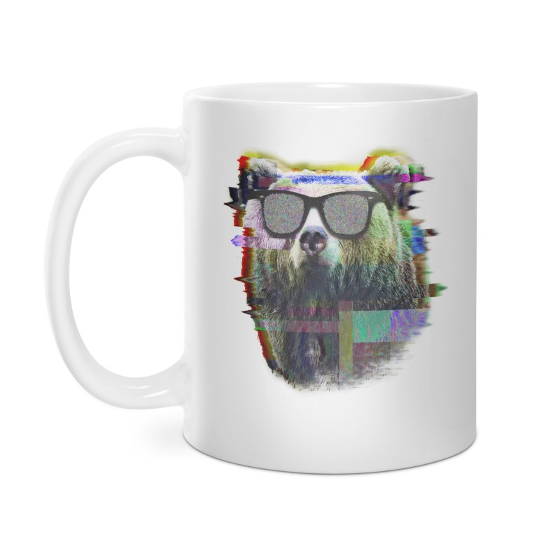 Bear Summer Glitch Accessories Mug by sknny