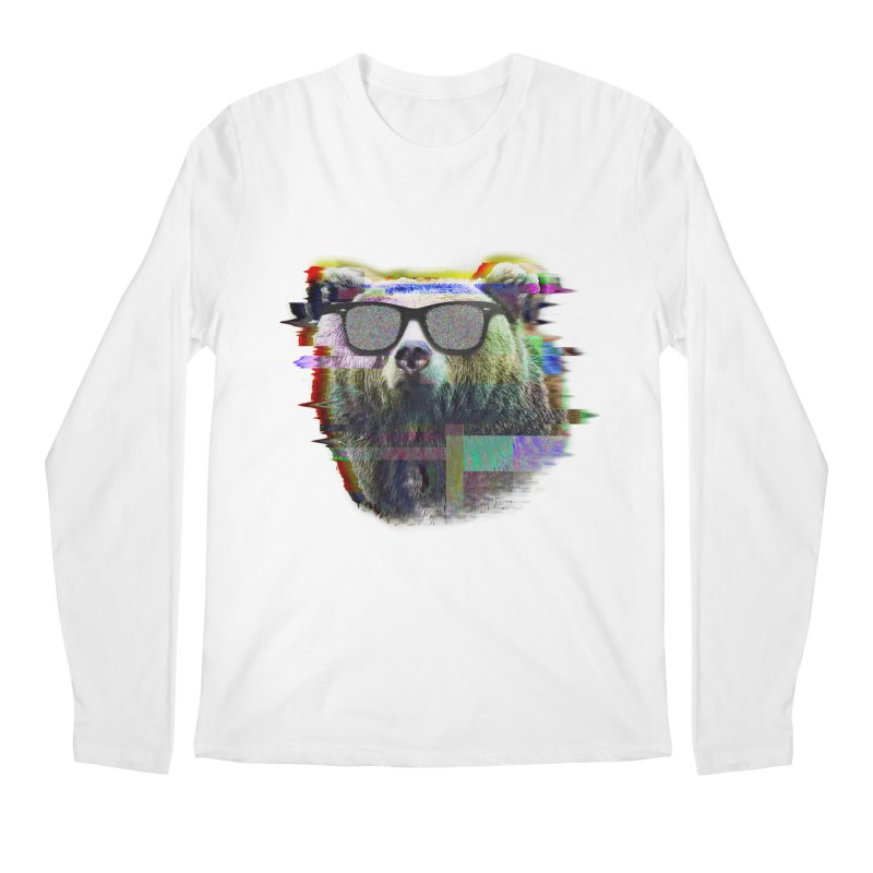 Bear Summer Glitch Men's Longsleeve T-Shirt by sknny